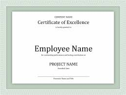 ms word certificate template professional project proposal project