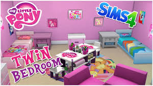 Sims 4 Furniture Sets My Little Pony Themed Twin Bedroom The Sims 4 Room Speed Build