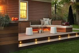 Cheap Backyard Deck Ideas by Exterior Green Deck Decorating Ideas Stylish Fall Deck