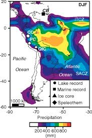 Climate Map Of South America by A 2 300 Year Long Annually Resolved Record Of The South American