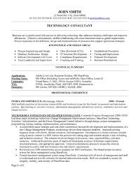 Business Consultant Resume Technical Consultant Resume Sample Gallery Creawizard Com