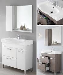 armadietto bagno con specchio arredo bagno zoe cm 90 lavabo ceramica specchiera con mensola e