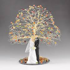 fall wedding cake topper 8