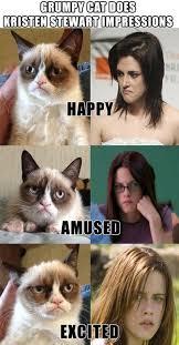 Tard The Grumpy Cat Meme - grumpy cat s kristen stewart impressions pop culture funny