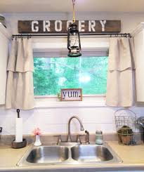 Modern Farmhouse Kitchen by Homeongrassyroad Drop Cloth Curtains Modern Farmhouse Kitchen