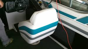 How To Reupholster Boat Cushions Boat Seat Upholstery Marine Upholstery My Clean Boat Lake