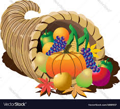 cornucopia clipart thanksgiving basket pencil and in color