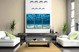 amazon com print artwork blue ocean sea wall art decor poster