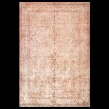 Antique Indian Rugs Indian Rug 40 3152 Indian 6 U0027 6 U0027 U0027 X 9 U0027 8 U0027 U0027 Salmon Origin