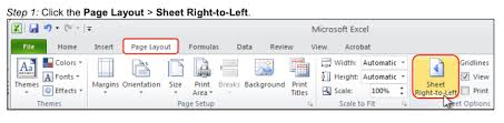 microsoft office how to set the default page layout from rtl to