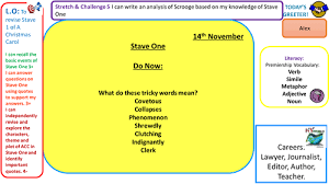 a lesson analysis stave 1 of a christmas carol by