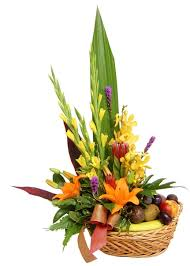 fruit flower arrangements fruit flower arrangements fruit and flower basket flowers