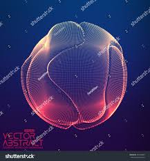 abstract vector colorful mesh sphere on stock vector 432470989