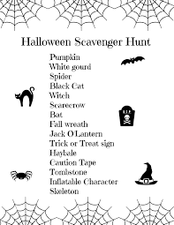 Free Printables For Halloween by Free Printable Halloween Scavenger Hunt For Kids Seaside Sundays