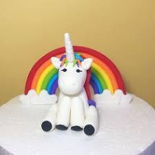 unicorn cake topper rainbow unicorn cake topper fondant rainbow and unicorn cake