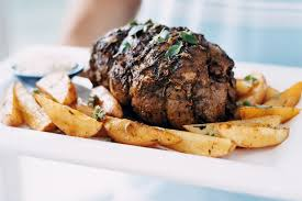 roast leg of lamb with potatoes arni psito me patates
