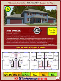 2330 modular two story duplex form wisconsin homes inc