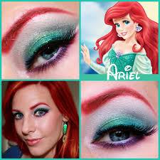 ariel disney princess series paisley peacock makeup insp