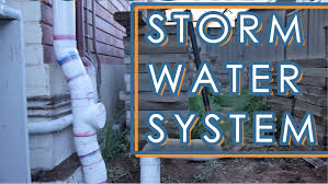 how to install a storm water drainage system backyard renovation