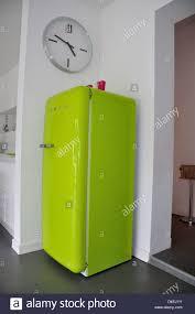 lime green smeg fridge in modern kitchen ascot berkshire