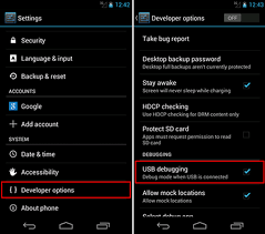 check android version how to enable usb debugging on android phones according to