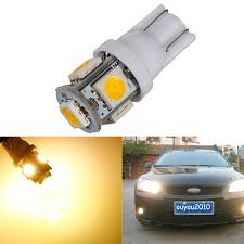 warm white 3000k t10 w5w 5smd 5050 led car clearance l side