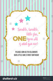 twinkle twinkle little star girls first stock vector 671252176