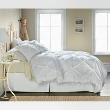white pinched pleat duvet cover set full queen 3 piece