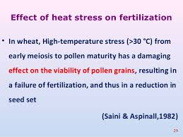High Heat Plants Impact Of Drought And Heat Stress On Reproductive Process Of Crop Pla U2026