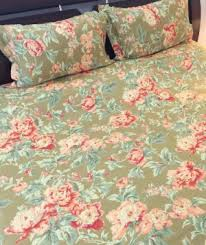Swayam White N Pink Floral Bed Sheet Swayam Floral Design Pink Rose And White Double Bed