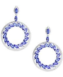 tanzanite earrings tanzanite earrings macy s