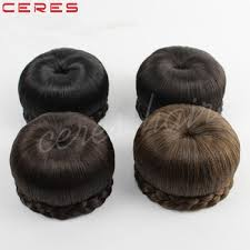 bun accessories cheap fashion synthetic hair bun accessories chignon hair pieces