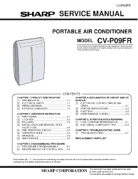 sharp air conditioner service manual air conditioner databases