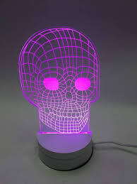 Purple Led Halloween Lights Dia 3d Optical Illusion Visualization Led Art Sculpture Night