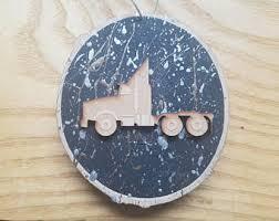 semi truck decor etsy