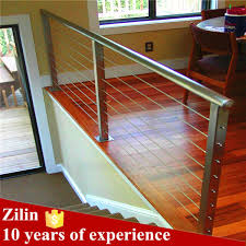Metal Stair Banister Wire Cable Stainless Steel Stair Railing Indoor Stair Railings