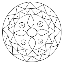 Diwali Rangoli Coloring Page Pattern Art Amp Culture Inspiration Of
