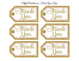 thank you tags pink gold thank you tags rect nifty printables