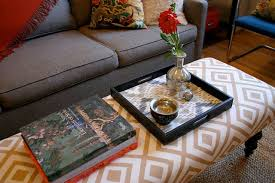 Long Ottoman Furniture Fabric Ottoman Coffee Table Ideas Round Fabric Coffee