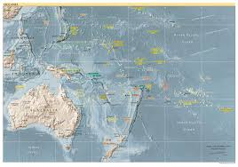 map of australia and oceania countries and capitals maps of australia and oceania and oceanian countries political