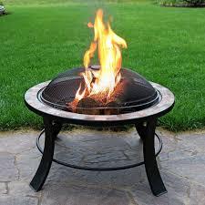 slate fire pit table sunnydaze 30 natural slate fire pit table fire pits