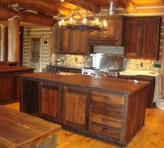 vintage barn wooden kitchen cabinet with stove plus island with