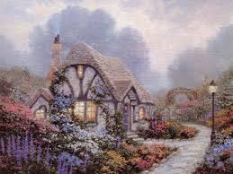 thomas kinkade chandler s cottage painting house cottage