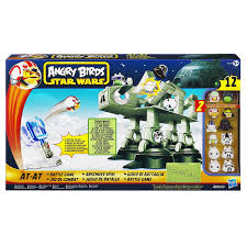 amazon com angry birds star wars at at attack battle game toys