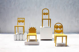 Chairs Designed To Look Like The Simpsons - Designed chairs