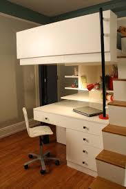 Desk With Bed Loft Beds For Teens Kids Modern With Bed Built In Furniture