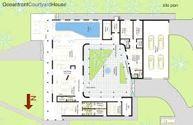 modern house plans with courtyards in the middle
