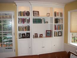 cool bookshelves on wall on bookcase with doors on bottom white