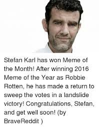 Victory Meme Face - stefan karl has won meme of the month after winning 2016 meme of