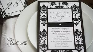 damask wedding invitations sle vintage black white damask wedding invitation with